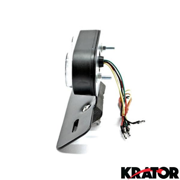Krator TL-GJ-022-1 Custom Fender Eliminator Taillight License Plate W//Running /& Brake Lights