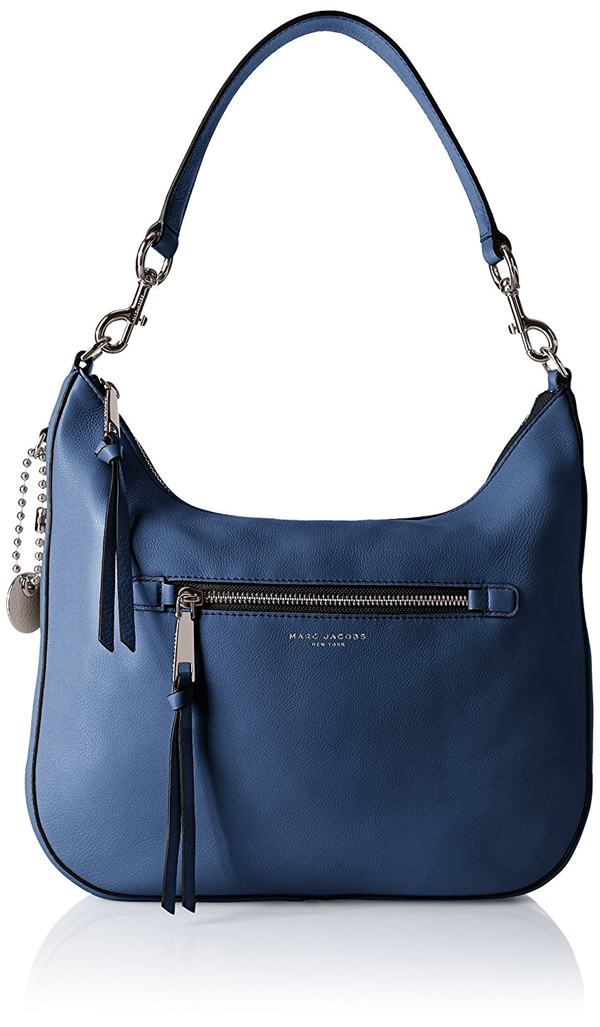 7aae884f81fe Marc Jacobs Leather Recruit Hobo Bag in Dark Blue 889732672736