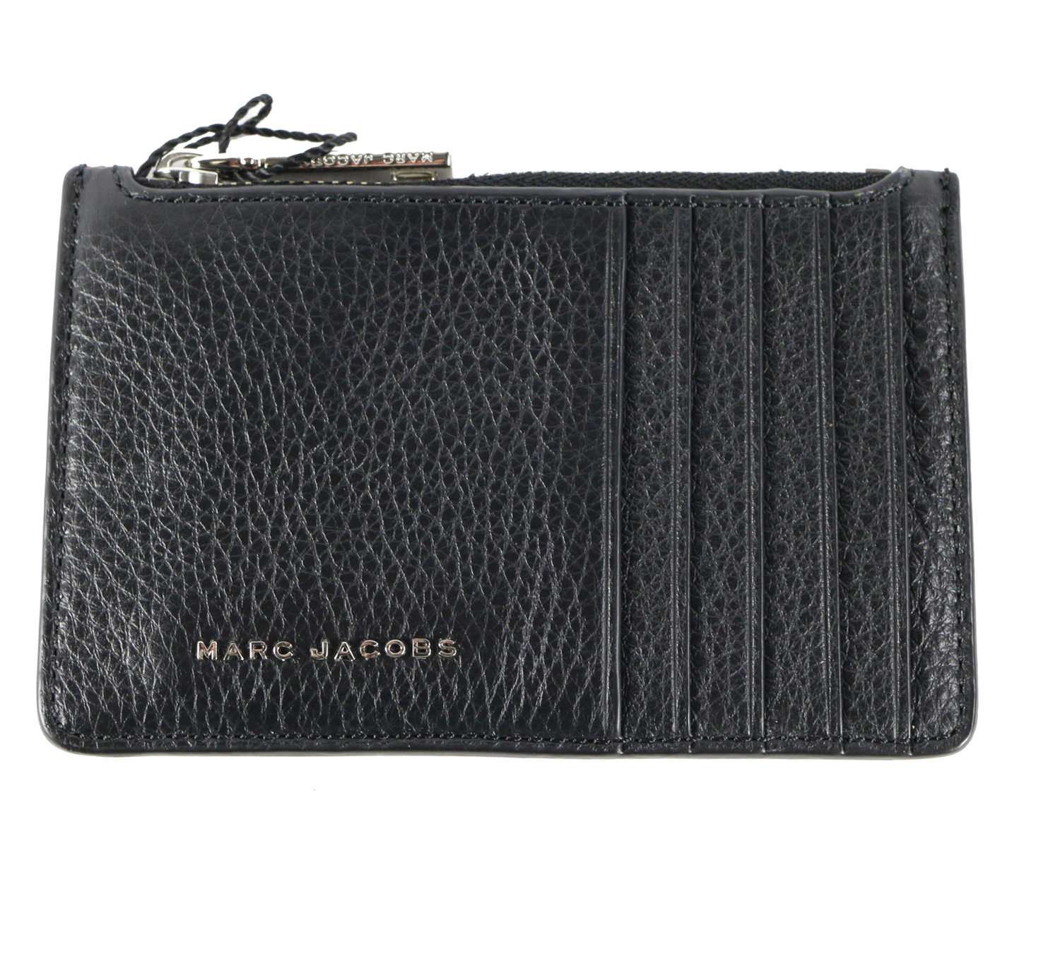 Marc Jacobs Wingman Leather Zip Card Wallet in Black Multi with ...
