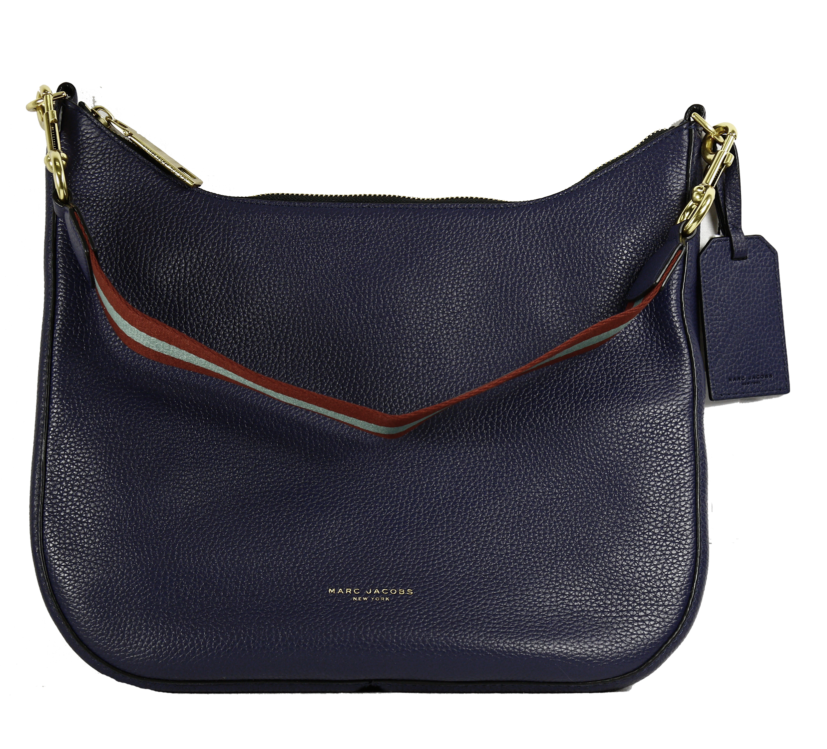 8b84f54d3868 Marc Jacobs Leather Gotham Hobo Bag in Midnight Blue 889732548260