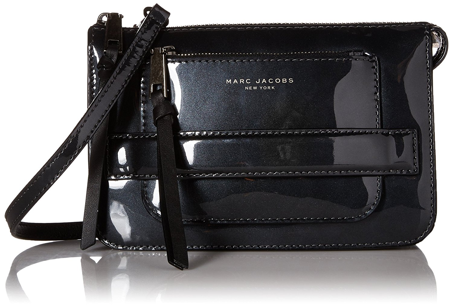 72add8607e Marc Jacobs Madison Patent Leather Crossbody Bag in Dark Silver ...