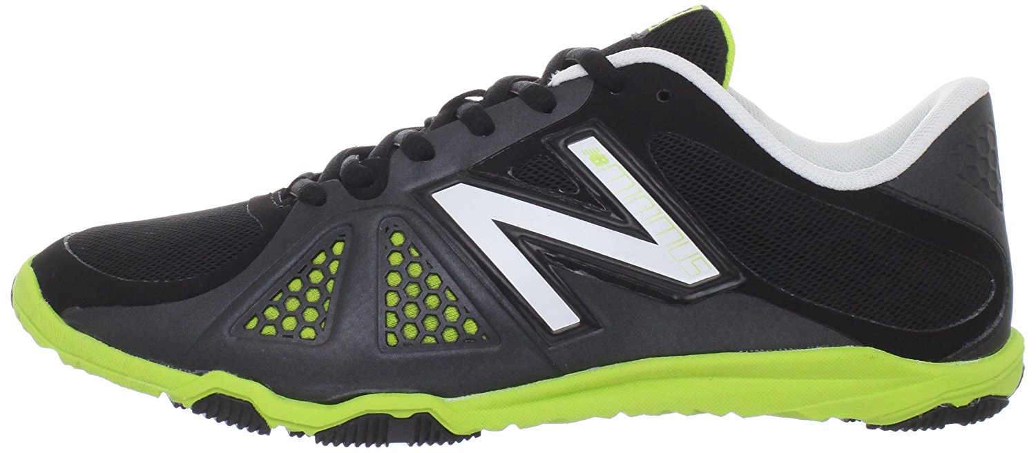 New Balance Womens WX20 Minimus Training Shoes in Black/Green/White size 7