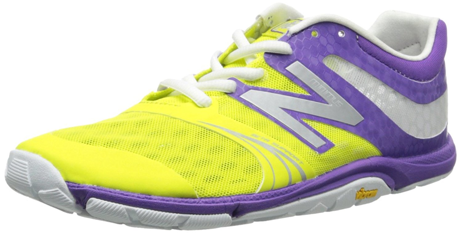 New Balance Womens 20v3 Minimus Cross Training Shoes in Purple/Yellow size 7.5