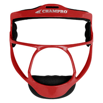 """6 3//4/"""" Scarlet 6 1//4/"""" Champro The Grill Defensive Fielder/'s Facemask"""