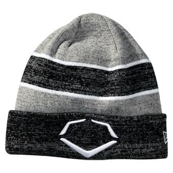 e52aa4283ff Evoshield Knit Cuffed Baseball Softball Hat - Black White ...