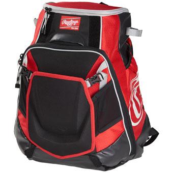 rawlings velo baseball softball backpack bag scarlet