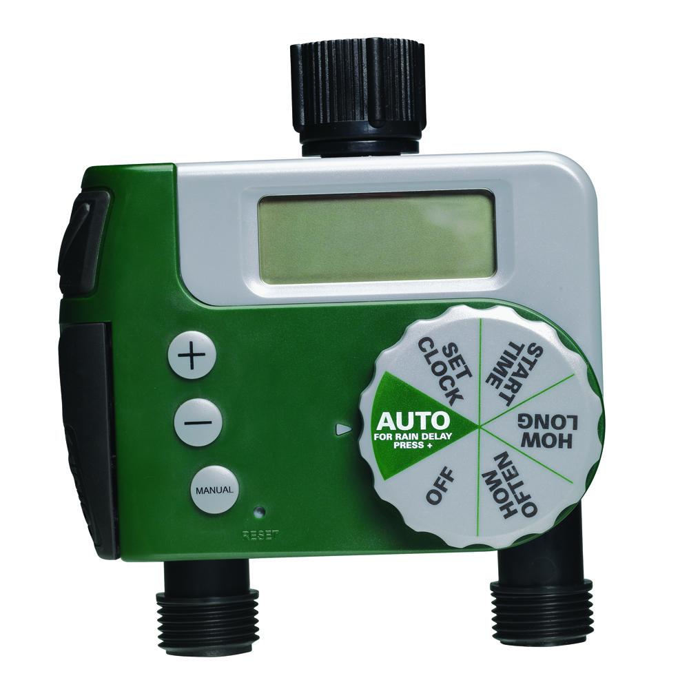 Orbit Digital Two Automatic Outlet Hose Faucet ...