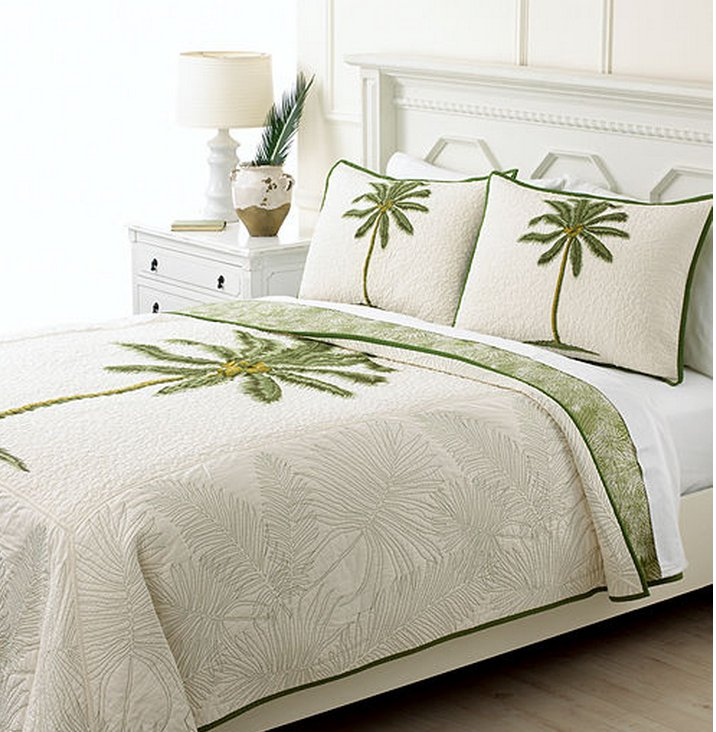 Martha Stewart Collection Coconut Palm Reversible Queen