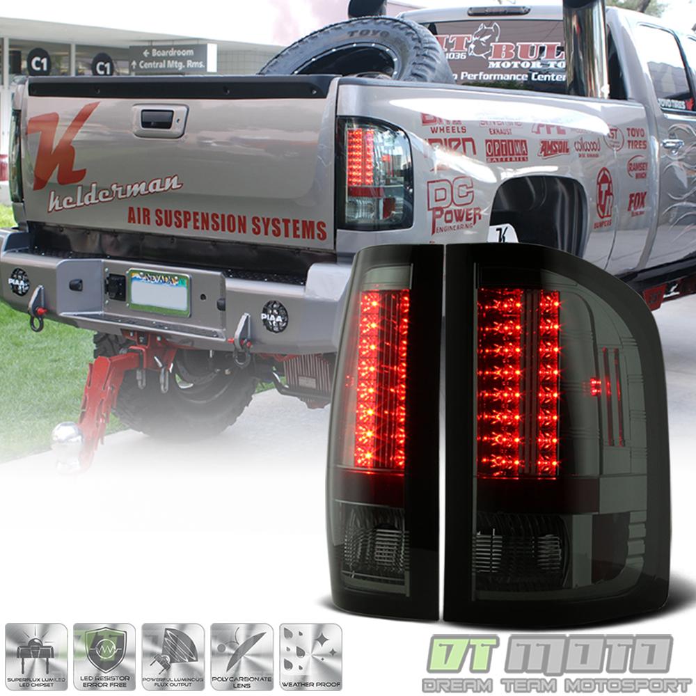 Smoke Pair Phillips LumiLED Tail Lamps Lights Chevy Silverado 2007-2013 LED
