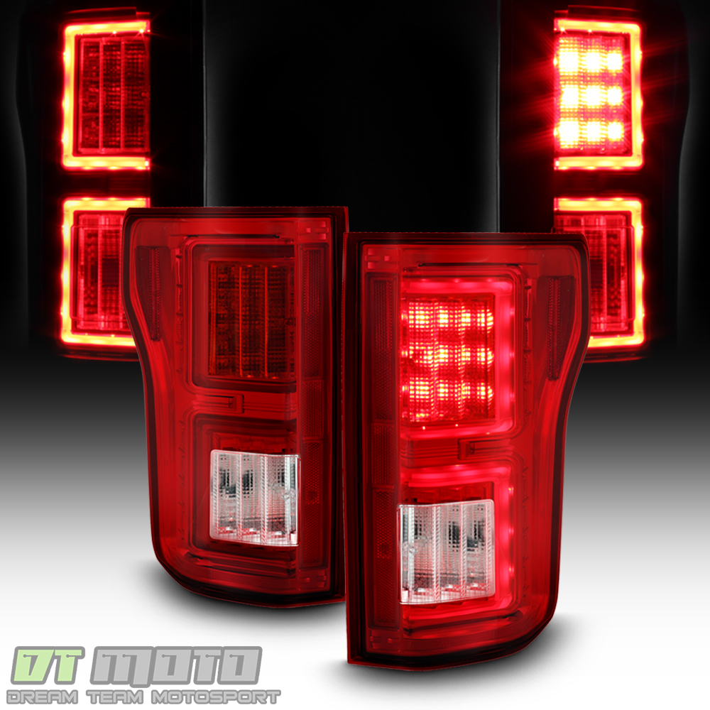 led neontube 2015 2017 ford f150 pickup red clear led. Black Bedroom Furniture Sets. Home Design Ideas