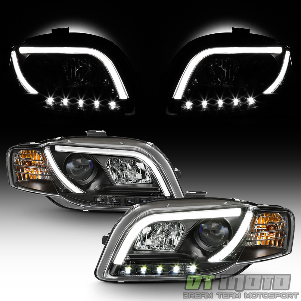Black 2006-2008 Audi A4 [R8 LED Strip] DRL Lights