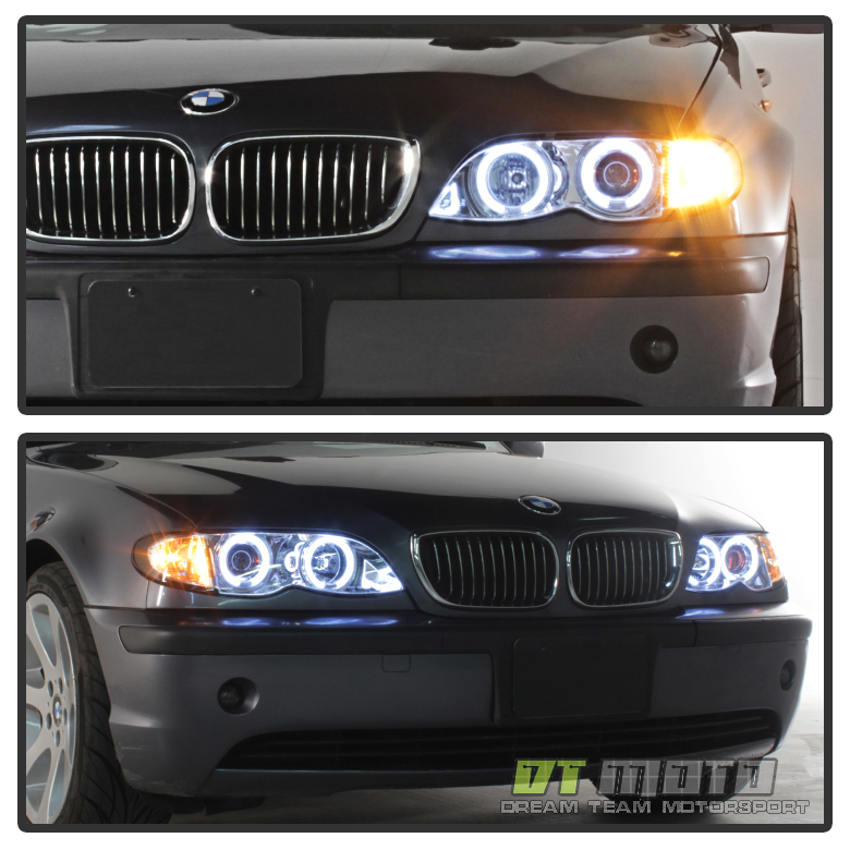 2002 2003 2004 2005 BMW E46 4DR Sedan Halo Projector