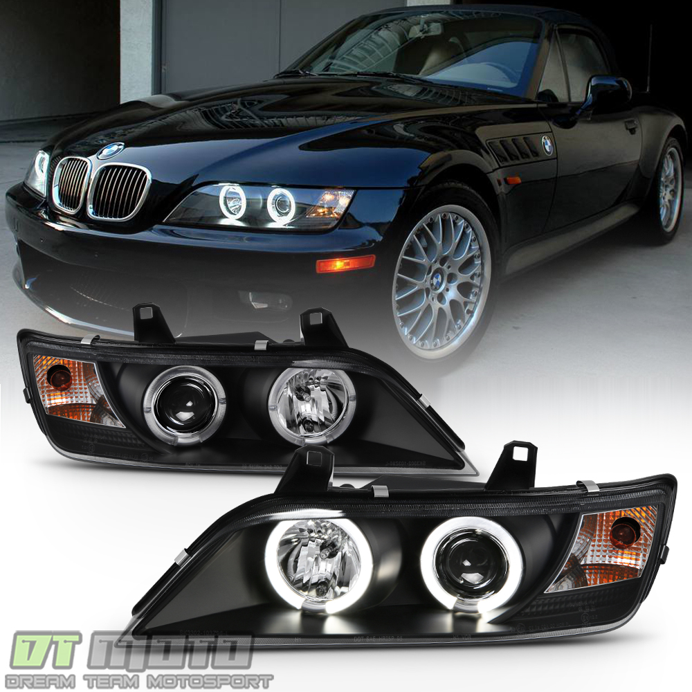 Bmw Z3 Colours: Black 1996-2002 BMW Z3 LED Halo Projector Headlights Head