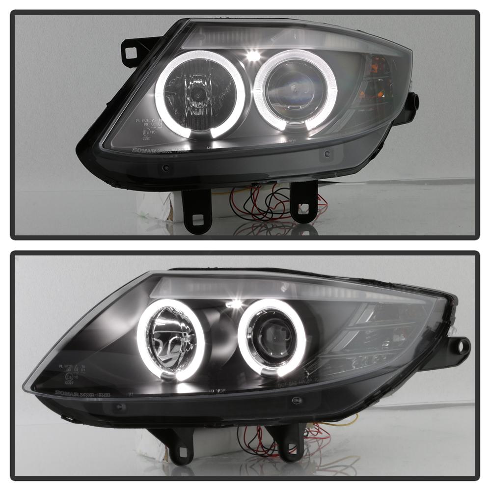 Bmw Z4 Engine Light: Black 2003-2008 BMW Z4 Dual LED Halo Projector Headlights
