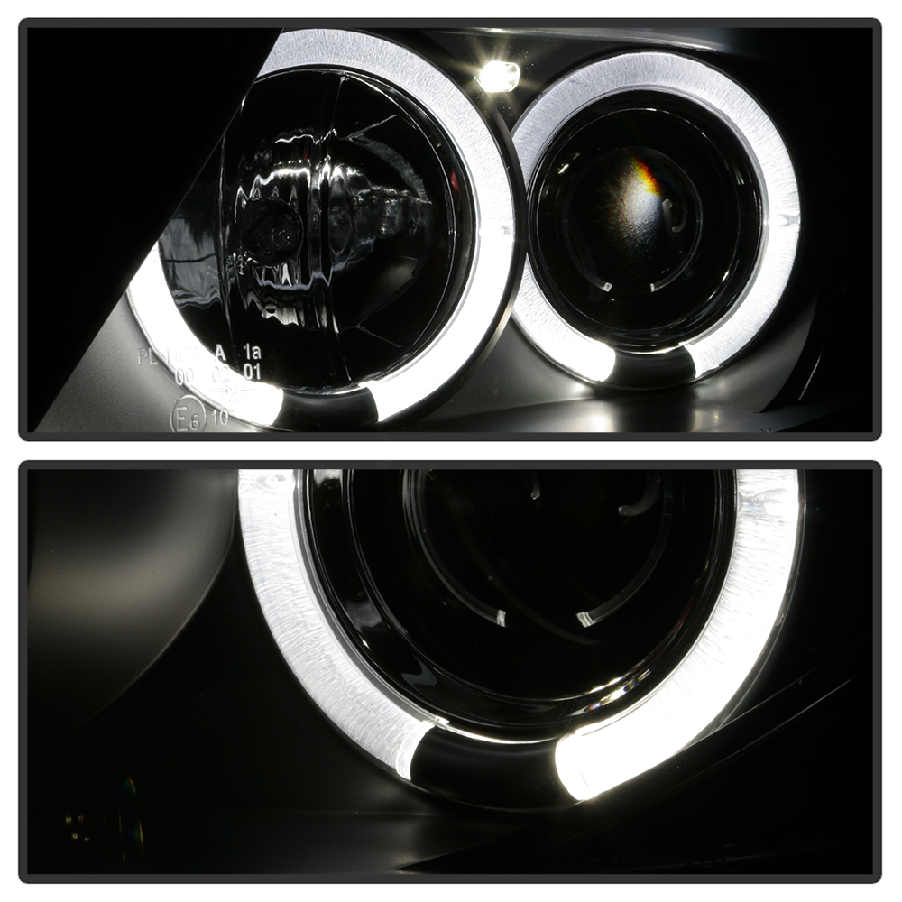 2003 Bmw Halo Headlights Wiring Quick Start Guide Of Diagram Led Headlight Black 2008 Z4 Dual Projector Light Lamps Left Right Ebay