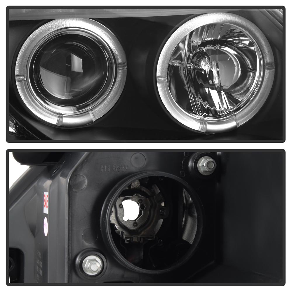 Bmw Z4 Xenon Headlights: Black 2003-2008 BMW Z4 Dual LED Halo Projector Headlights