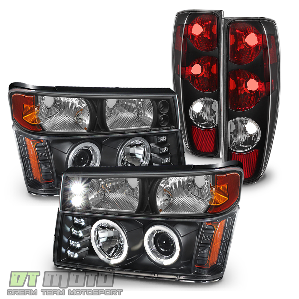 Black 2004-2012 Chevy Colorado GMC Canyon Headlights