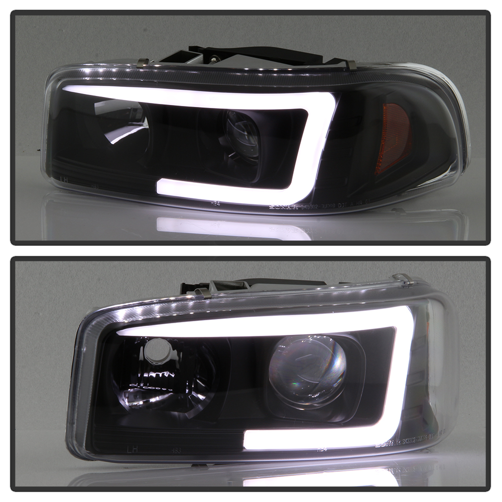 black 1999-2006 gmc sierra yukon denali led tube projector ... 2000 gmc sierra 1500 wiring diagram 2000 gmc sierra headlight wiring