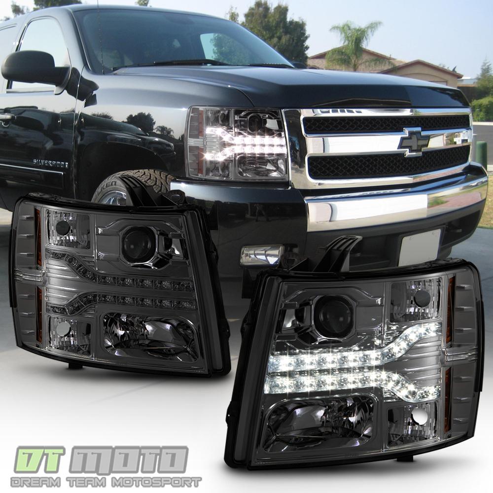 2008 Chevrolet Silverado 3500 Hd Extended Cab Camshaft: [Smoked Lens] 2007-2013 Chevy Silverado 1500 LED DRL Strip