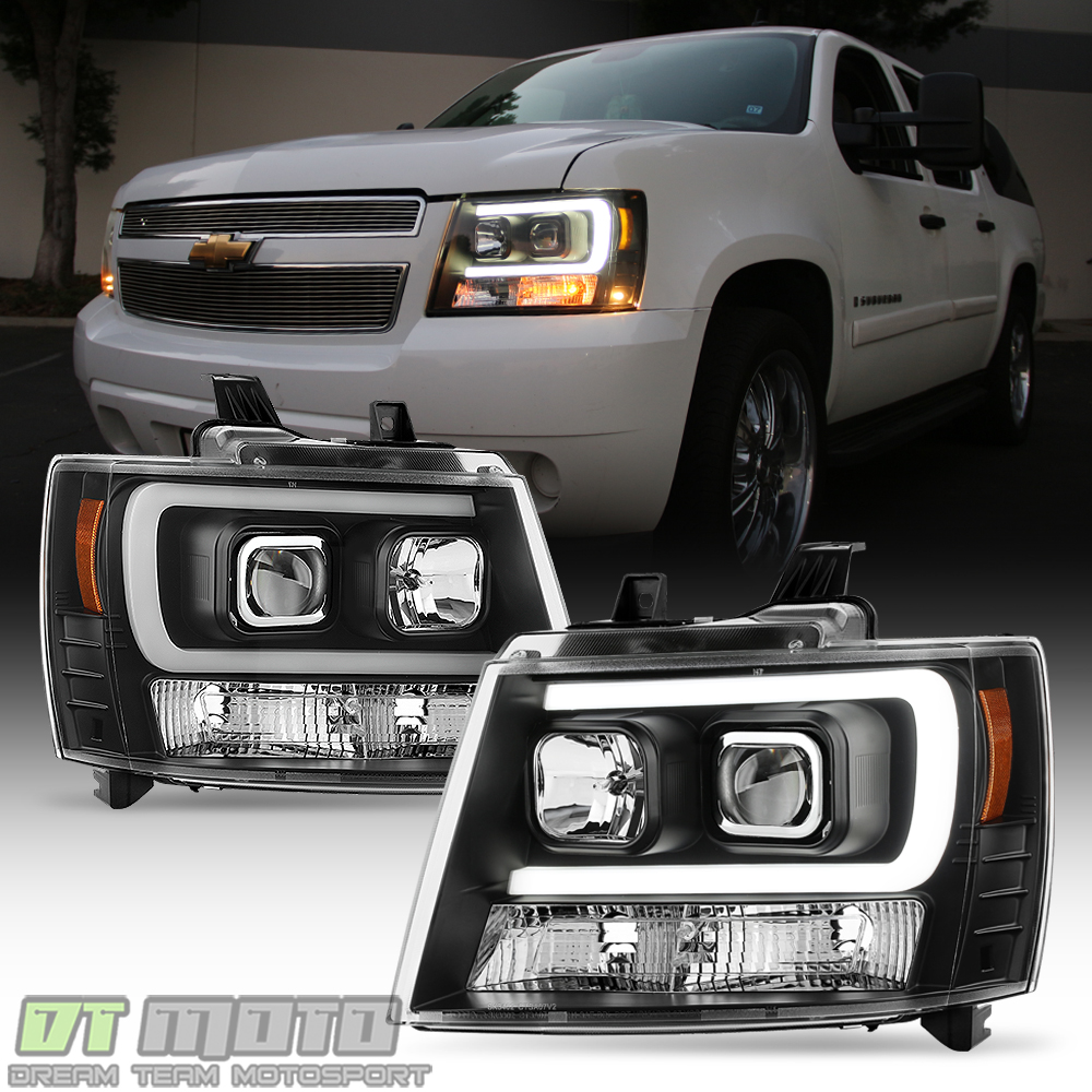 Blk 2007-2014 Chevy Suburban Tahoe Avalanche OPTIC DRL LED ...