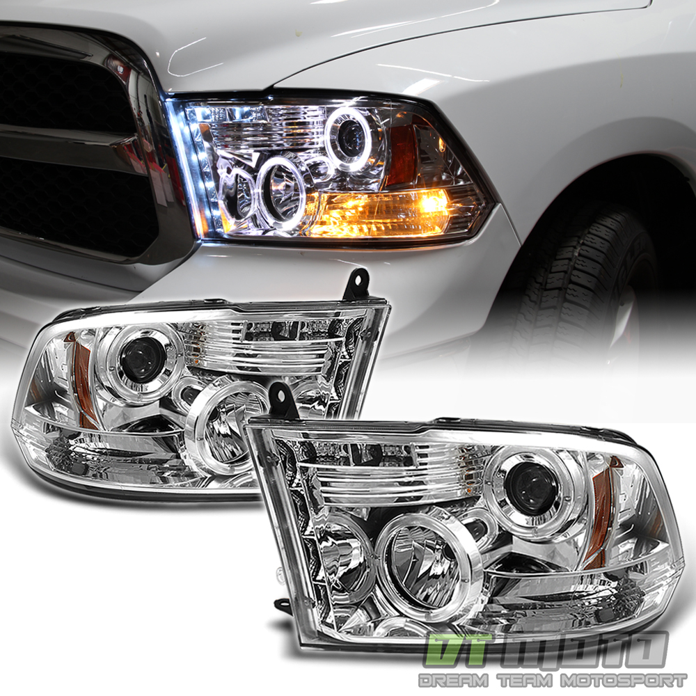 2009 2017 dodge ram pickup truck led halo projector headlights drl front lamps fits