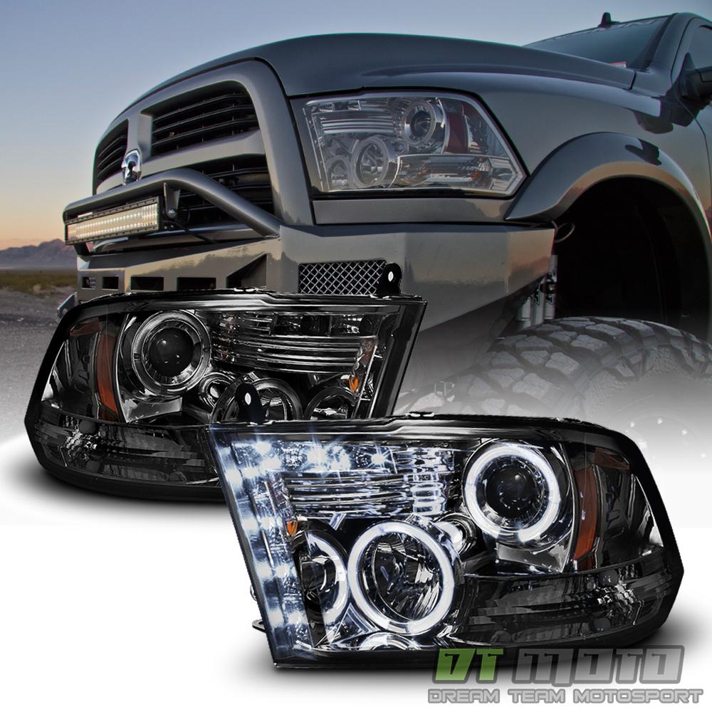 Smoked 2009-2018 Dodge Ram 1500 2500 3500 Halo LED