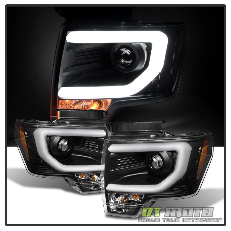 Black 2009 2014 Ford F150 Raptor Svt Frost Led Tube Drl