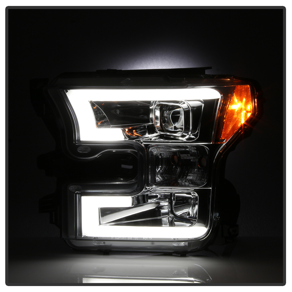 2015 2016 2017 ford f 150 projector headlights drl plasma led tube headlamps. Black Bedroom Furniture Sets. Home Design Ideas
