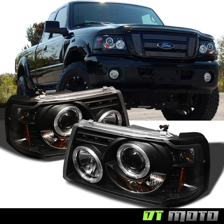 blk 2001 2011 ford ranger led halo projector headlights w built in corner lamps ebay details about blk 2001 2011 ford ranger led halo projector headlights w built in corner lamps