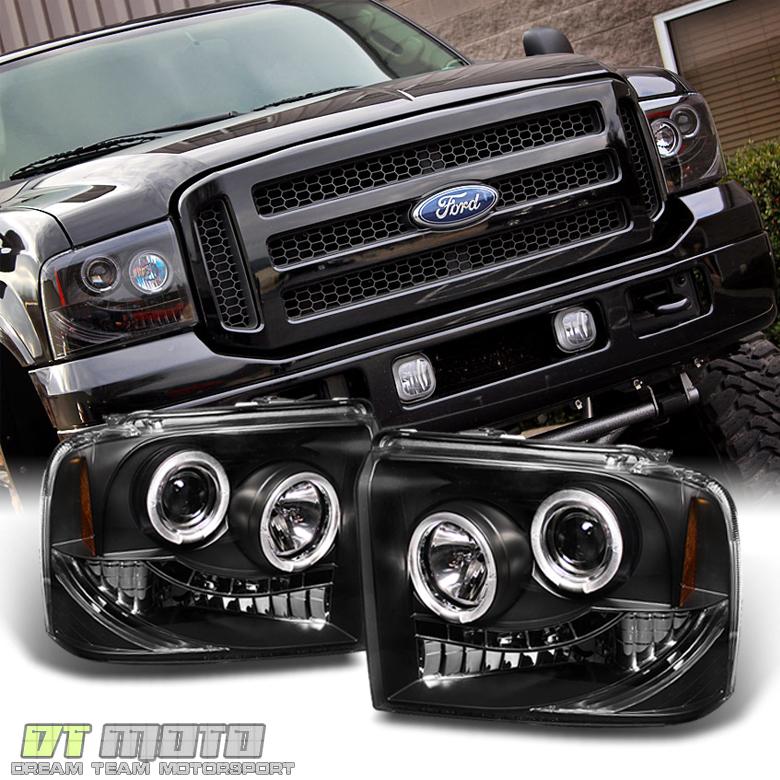 Black 2005 2006 2007 Ford F250/F350/F450 Superduty LED