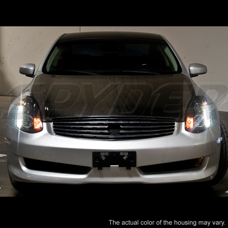 2003 2006 Infiniti G35 Coupe Euro Led Strip Projector