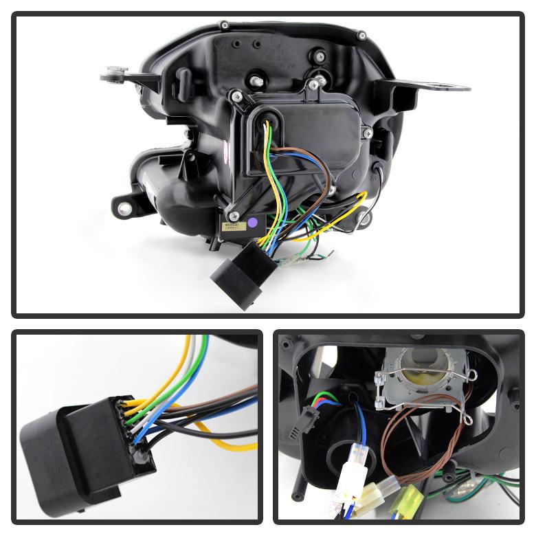 Black 20072015 Mini Cooper Drl Led Light Tube Projector Headlights Hid Xenon Ebay: Mini Cooper Headlight Wiring Diagram At Executivepassage.co