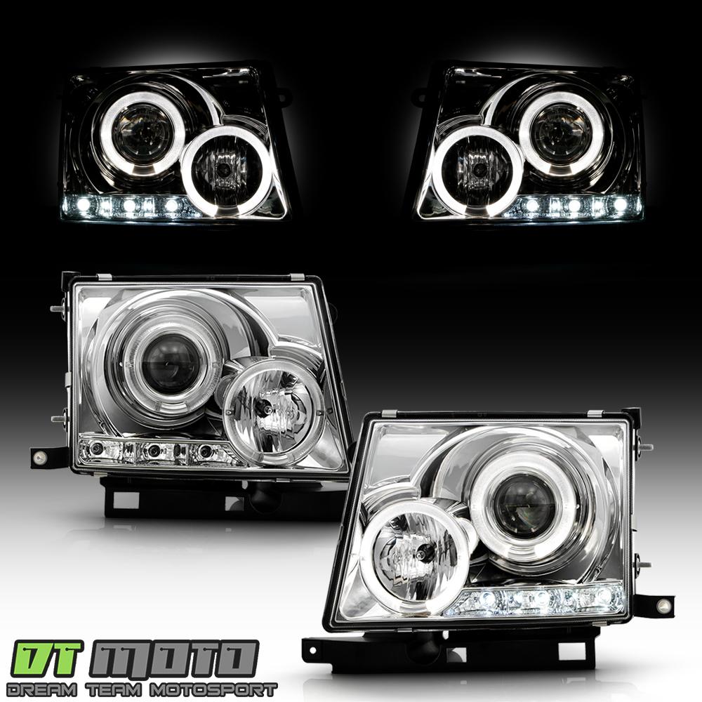 Toyota Tacoma Headlights: 1997-2000 Toyota Tacoma 2WD 98-00 4WD LED Halo Projector