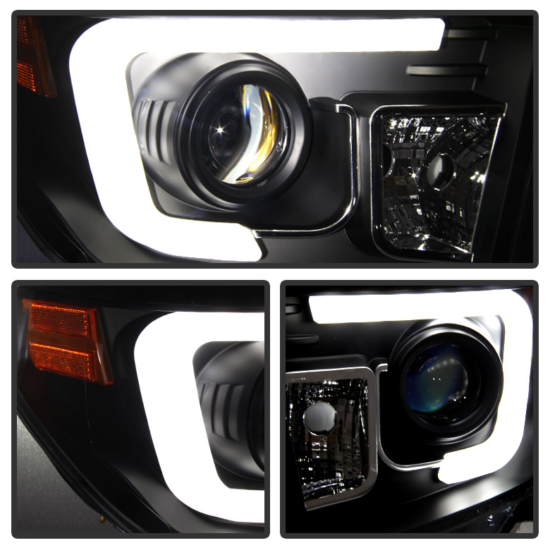 2014 2017 toyota tundra led drl black projector headlamps left toyota sciox Images