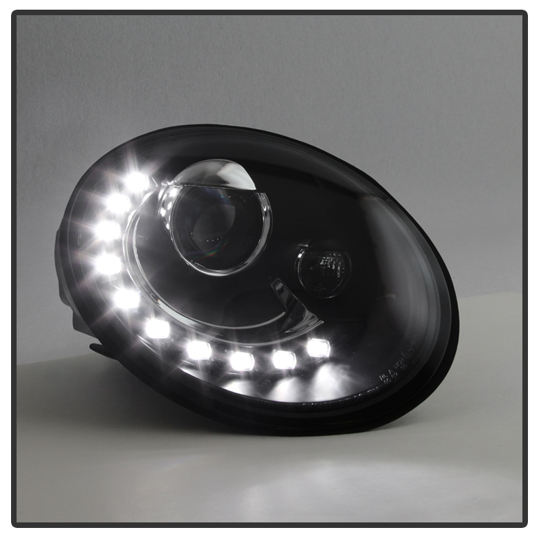 vw beetle projector headlights wdrl led running light pair leftright ebay