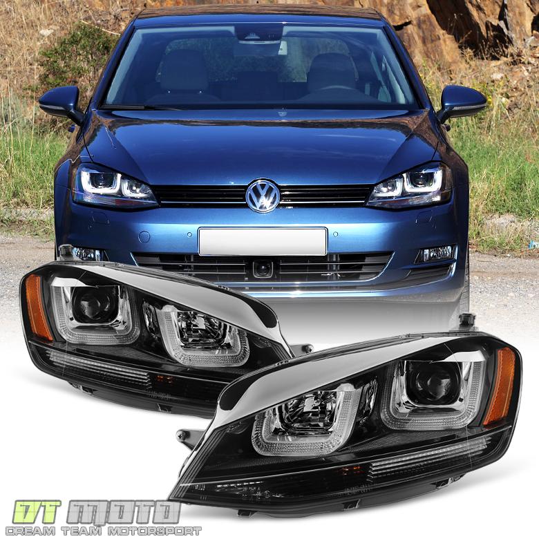 [L+R] Blk 2015-2017 Volkswagen VW Golf/GTI MK7 LED DRL