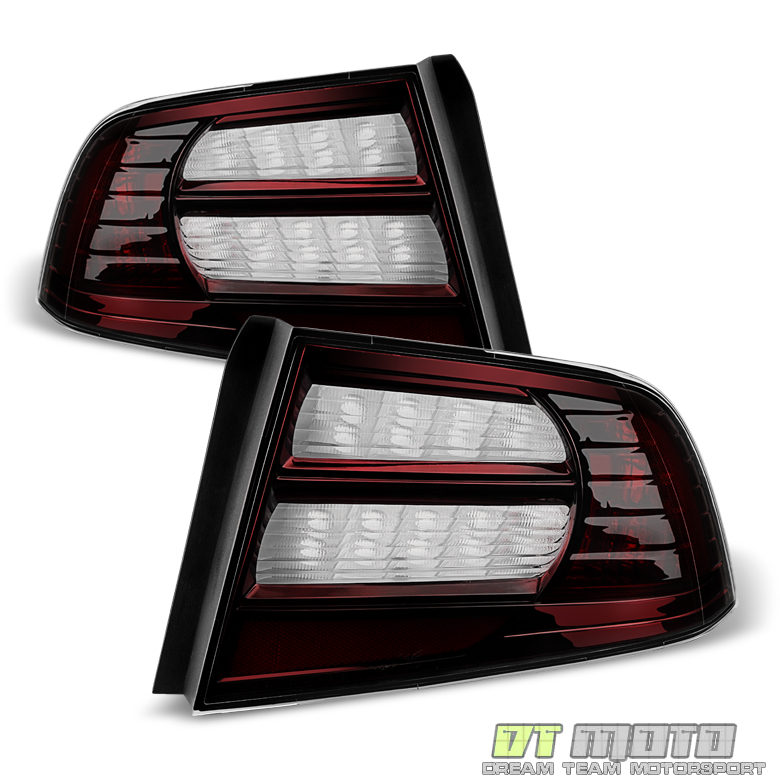 Blk Tinted 04-08 Acura TL Tail Lights Brake Lamps Left