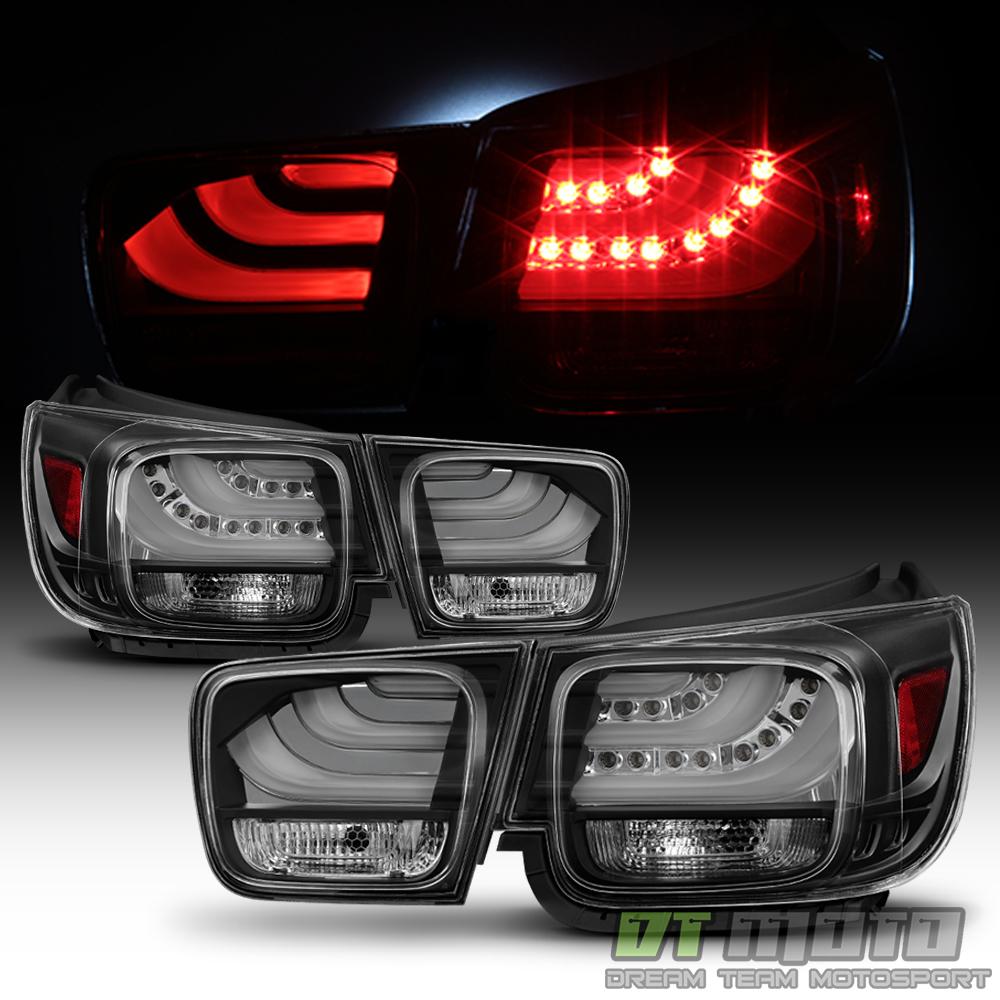 Black 2013 2014 2015 Chevy Malibu LS LT LED Tail Lights
