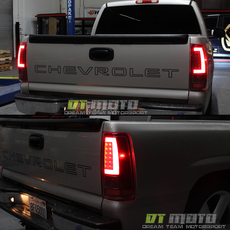 black 2003 2006 chevy silverado 1500 led light bar tail. Black Bedroom Furniture Sets. Home Design Ideas