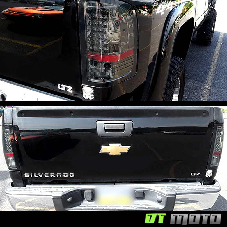 Blk 2007-2013 Chevy Silverado 1500 2500 3500HD LED Tail