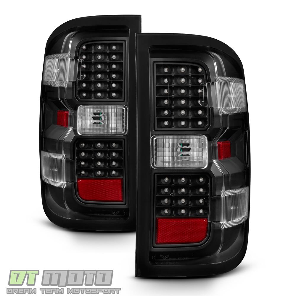 2016 3500hd chevy tail light wiring color black 2014-2017 chevy silverado 1500 2500 hd 3500 hd led tail lights brake lamps | ebay