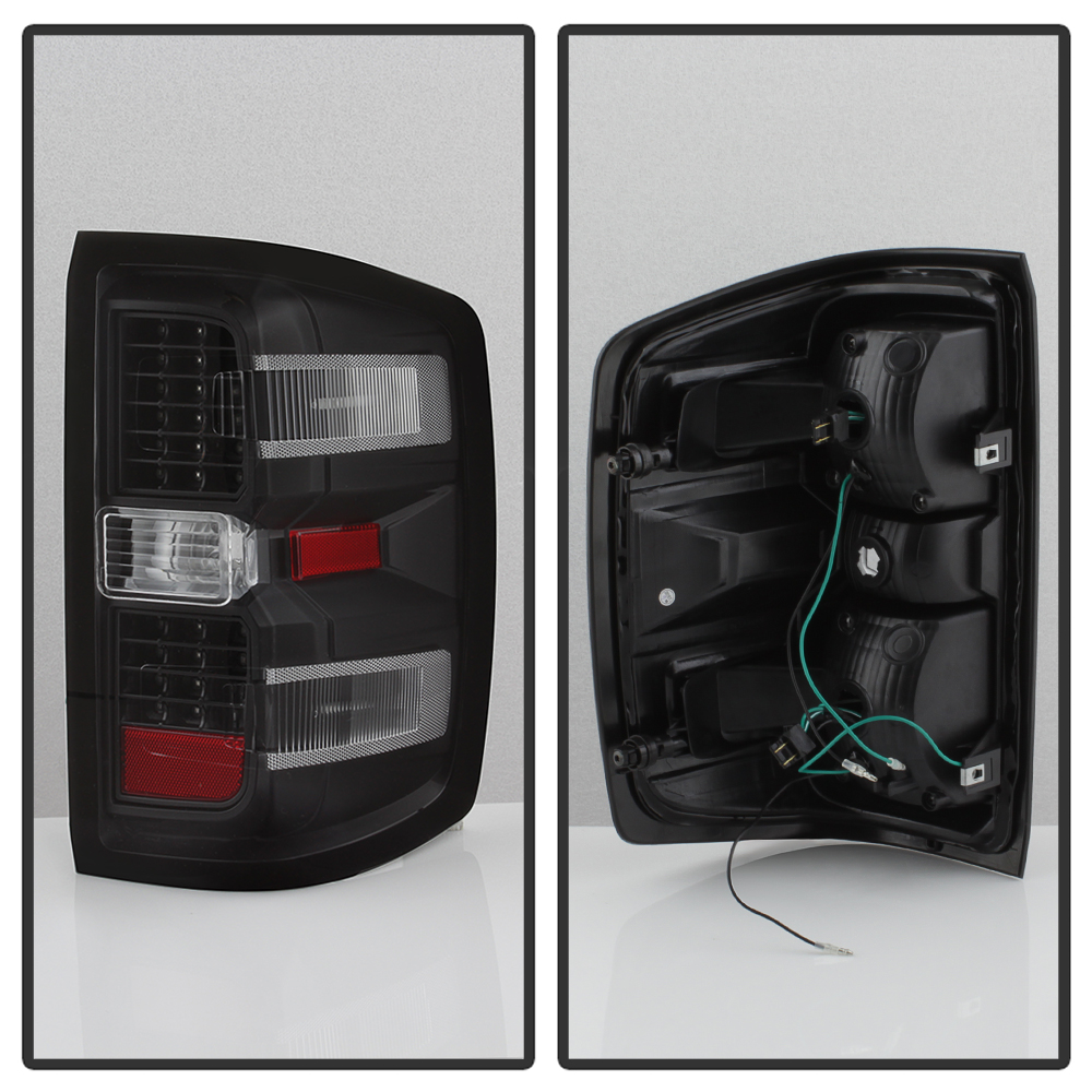 Black 2014-2017 Chevy Silverado 1500 2500 HD 3500 HD LED