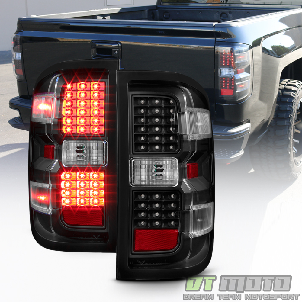 black 2014-2017 chevy silverado 1500 2500 hd 3500 hd led tail lights brake lamps | ebay isuzu tail light wiring color code
