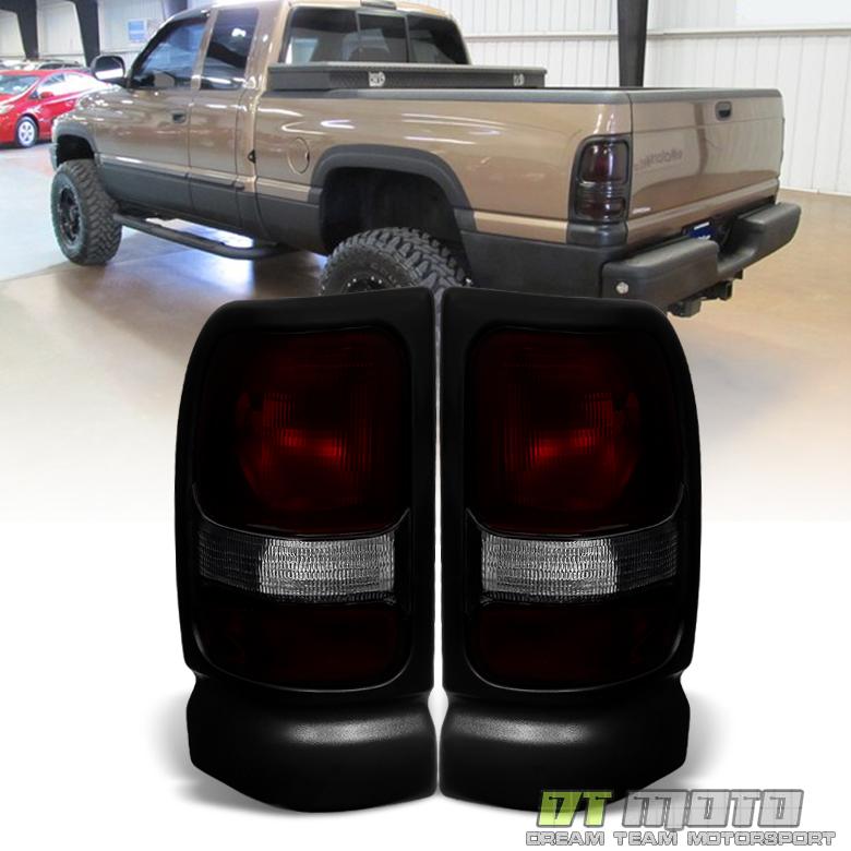1994-2001 Dodge Ram 1500 2500 3500 Red Smoke Tail Lights