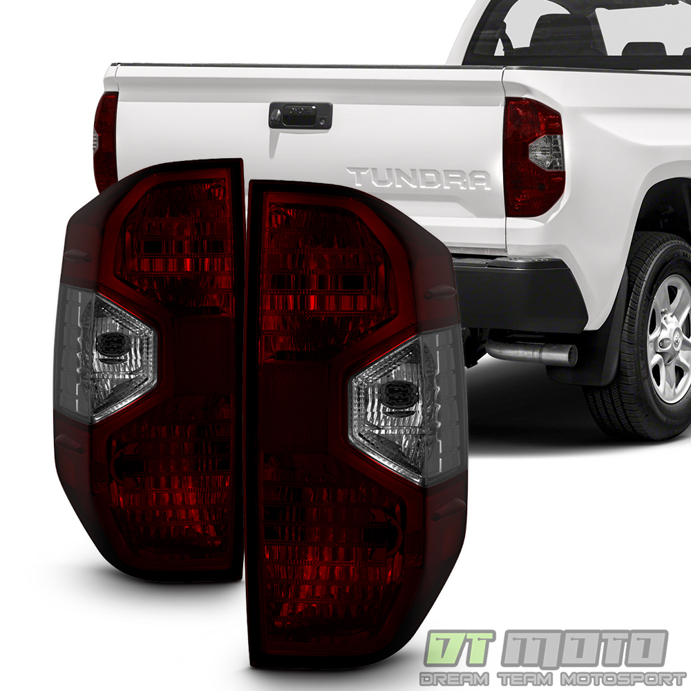 DOUBLE CAB PAIR LH+RH FOR 2000-2006 TOYOTA TUNDRA LED TAIL LIGHTS RED SMOKE