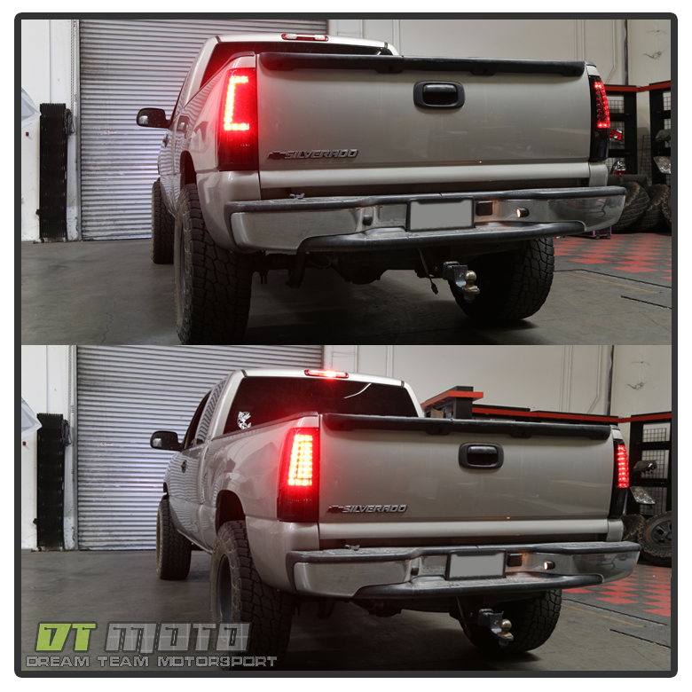 Chevy Silverado Tail Lights 2003-2006 Chevy Silverado 1500 2500HD 3500 Black LED Tail ...