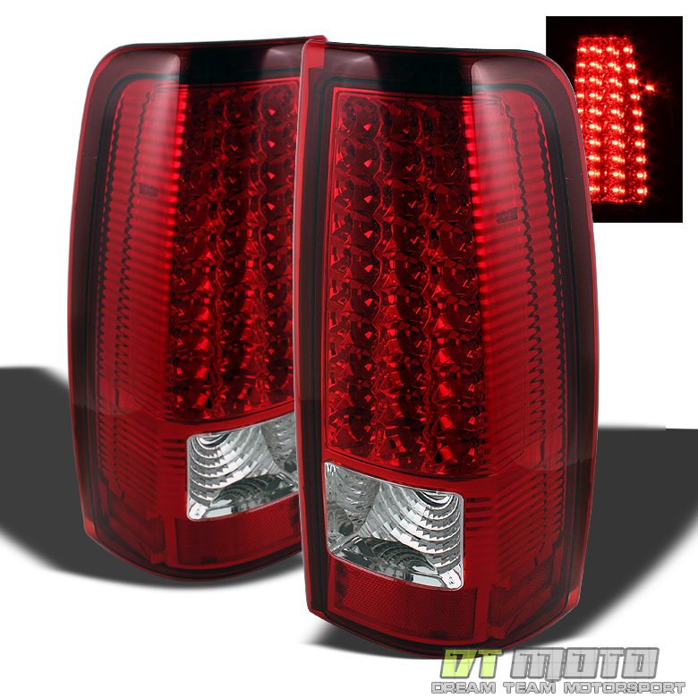 1999 2006 gmc sierra 1500 2500 3500 red clear led tail. Black Bedroom Furniture Sets. Home Design Ideas