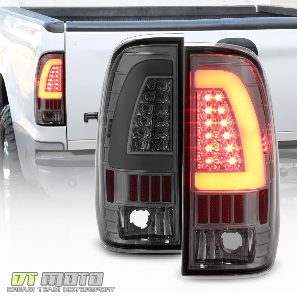 Smoke 1997-2003 Ford F150 1999-07 F250 SD LED Light Bar Tail Lights ...