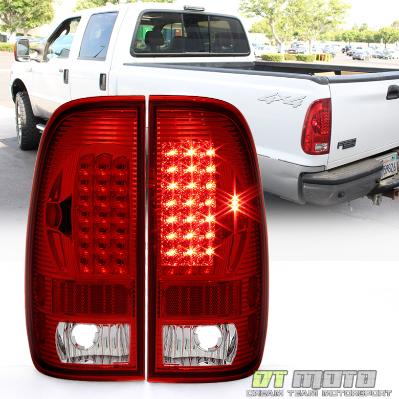 1999-2007 Ford F250 F350 F45 SD 1997-2003 F150 Red LED