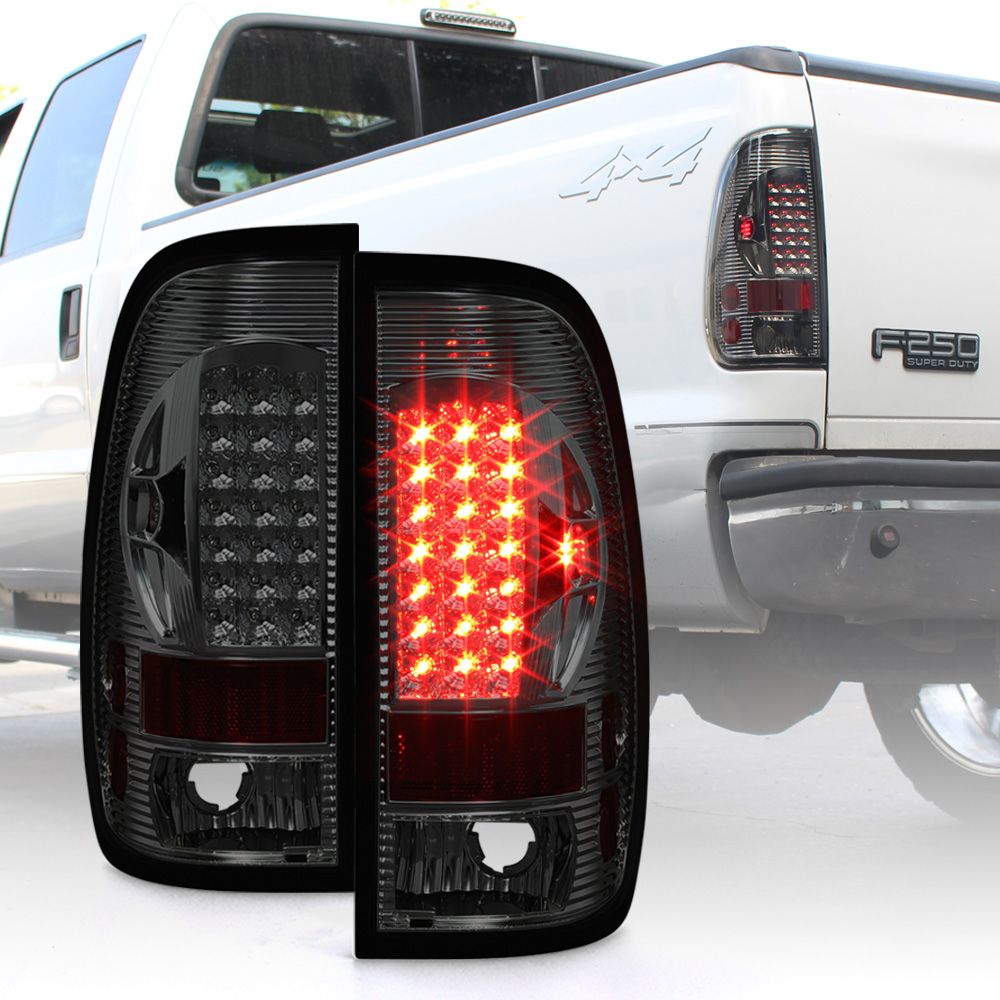 Fit for 1997-2003 Ford F-150 2004 Ford F-150 Heritage 1998-1999 Ford F250 2002 Lincoln Blackwood High Mount Brake Light Smoke Lens LED Light LED 3rd Brake Light Cargo Light